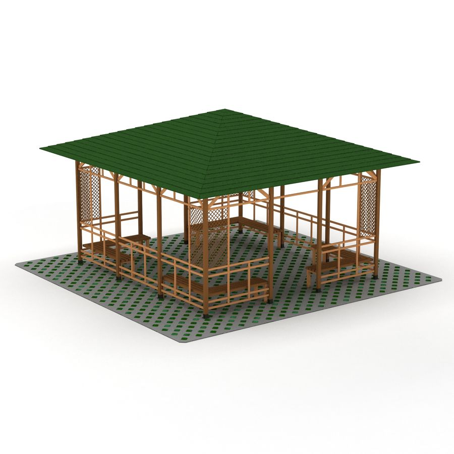 Pérgola 3D royalty-free modelo 3d - Preview no. 4