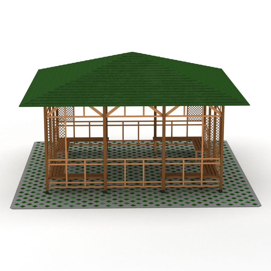 Pérgola 3D royalty-free modelo 3d - Preview no. 6