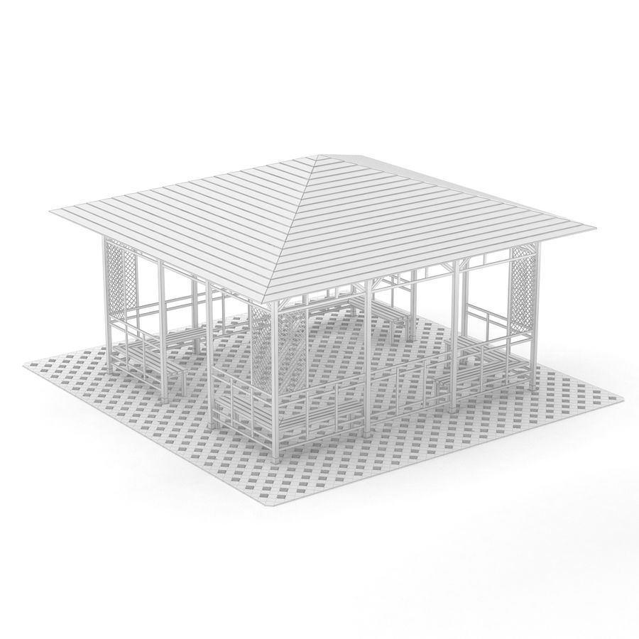 Pérgola 3D royalty-free modelo 3d - Preview no. 11