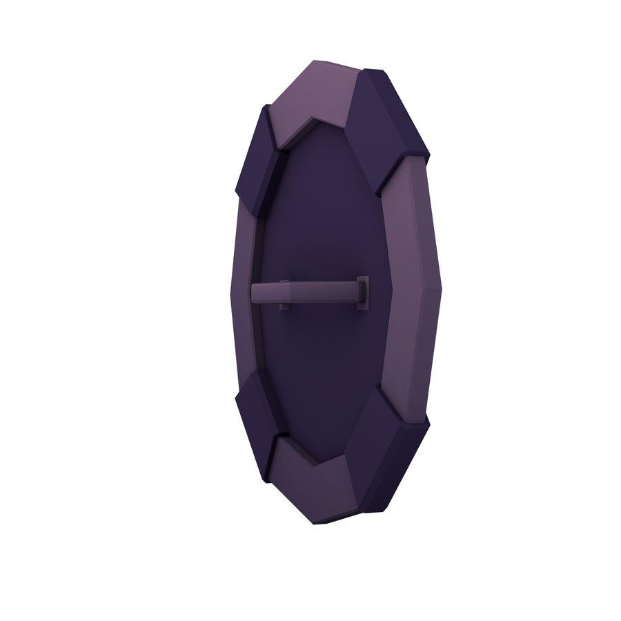 만화 방패 세트 royalty-free 3d model - Preview no. 6