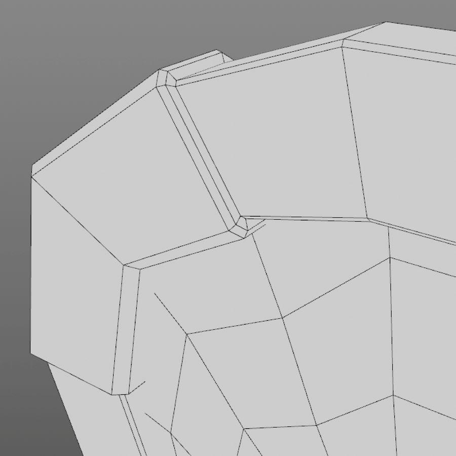 만화 방패 세트 royalty-free 3d model - Preview no. 41