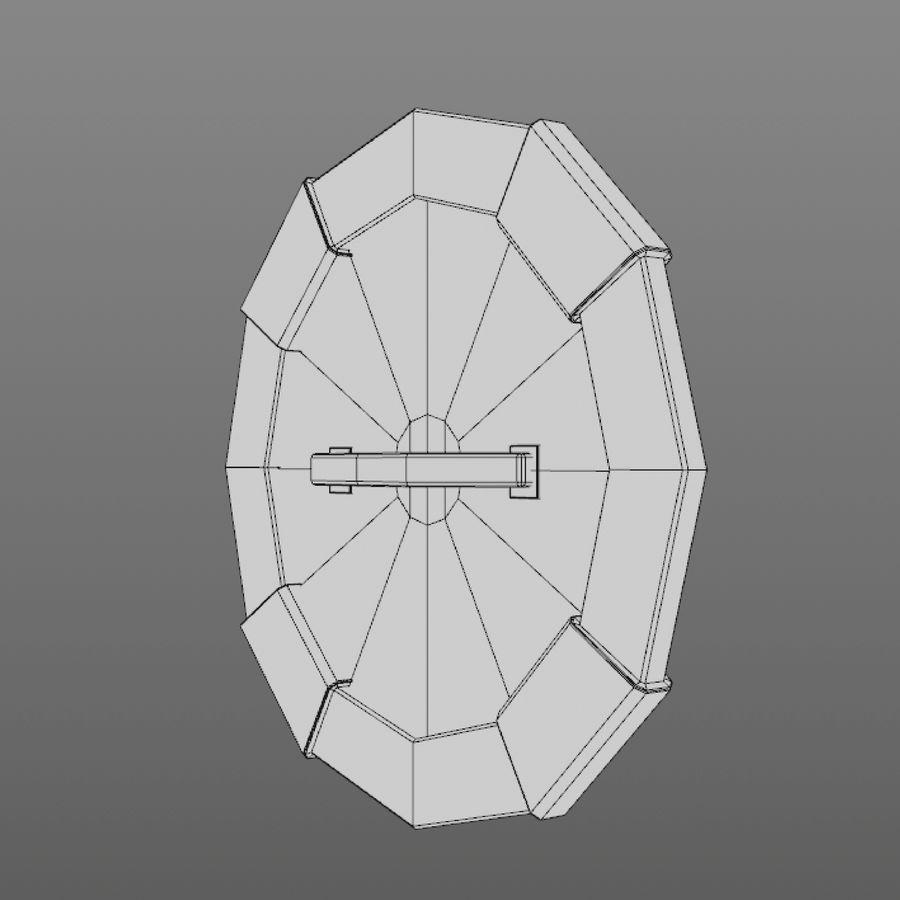 만화 방패 세트 royalty-free 3d model - Preview no. 10