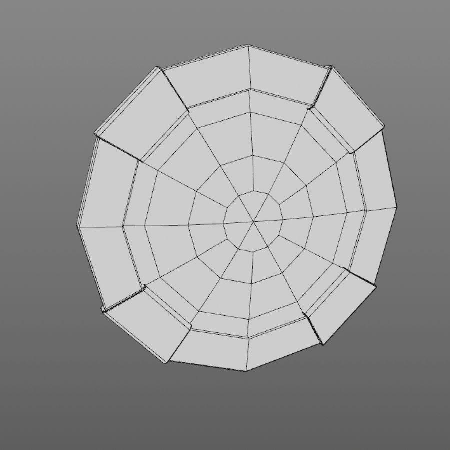 만화 방패 세트 royalty-free 3d model - Preview no. 8