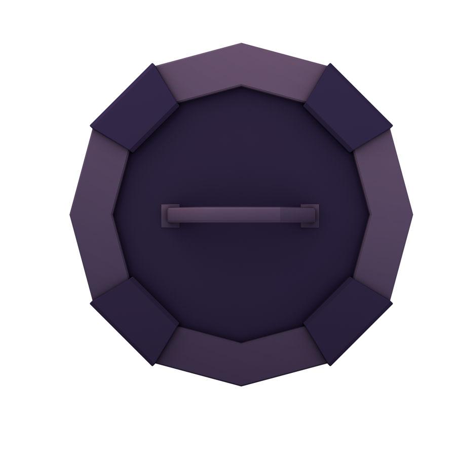만화 방패 세트 royalty-free 3d model - Preview no. 7