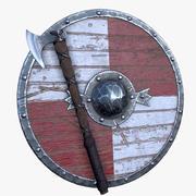 Axe & Shield 3d model