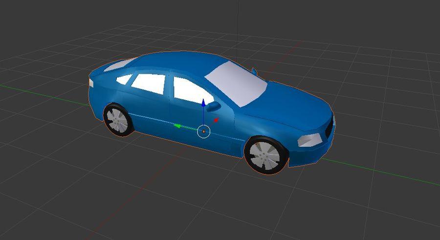 Niebieski samochód royalty-free 3d model - Preview no. 2