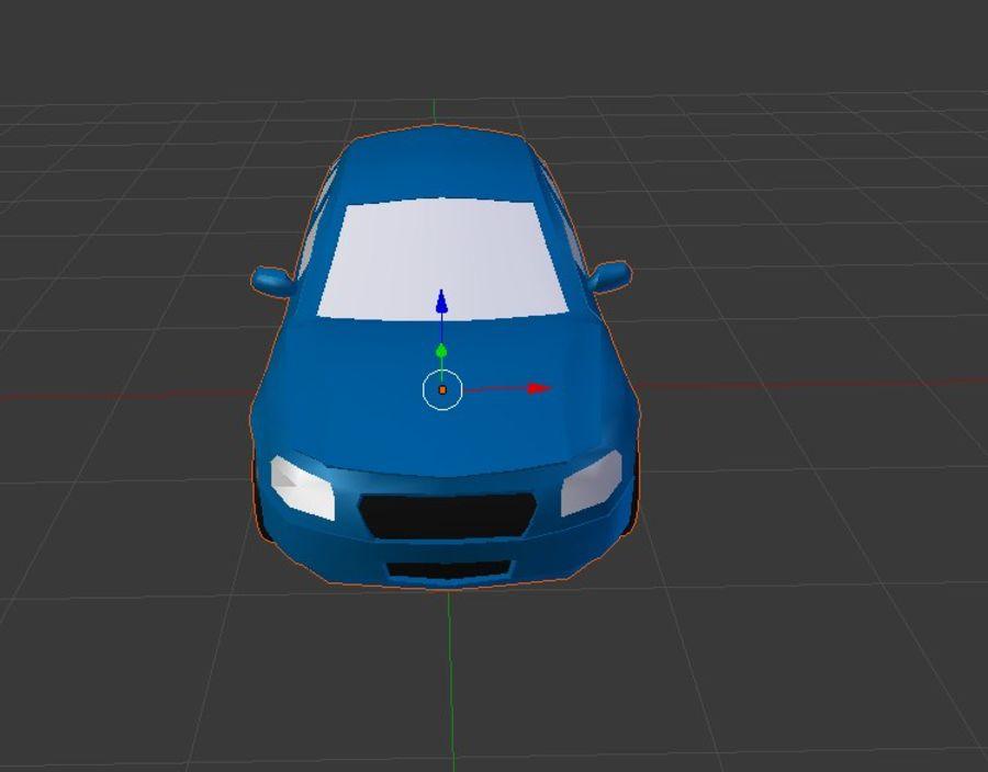 Niebieski samochód royalty-free 3d model - Preview no. 3