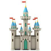 Castillo de dibujos animados modelo 3d