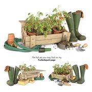 Садовые инструменты 3d model