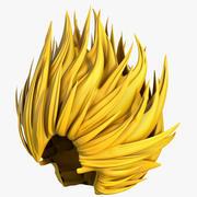 Super Saiyan Wig. 3d model
