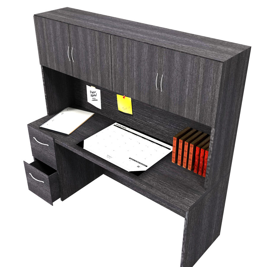Office Hutch royalty-free 3d model - Preview no. 3