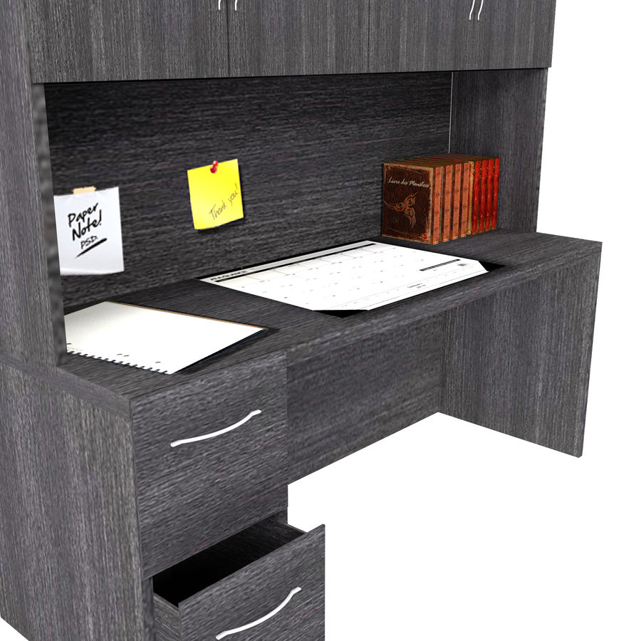 Office Hutch royalty-free 3d model - Preview no. 2
