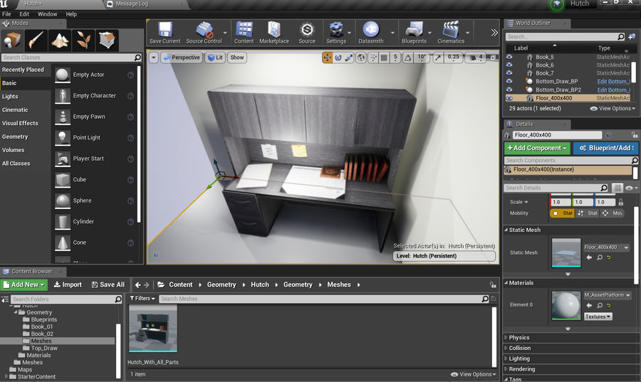 Office Hutch royalty-free 3d model - Preview no. 7