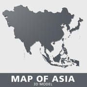 Map of Asia 3d model
