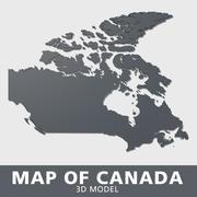 Kaart van Canada 3d model