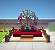 Giant wheel swing 3d model