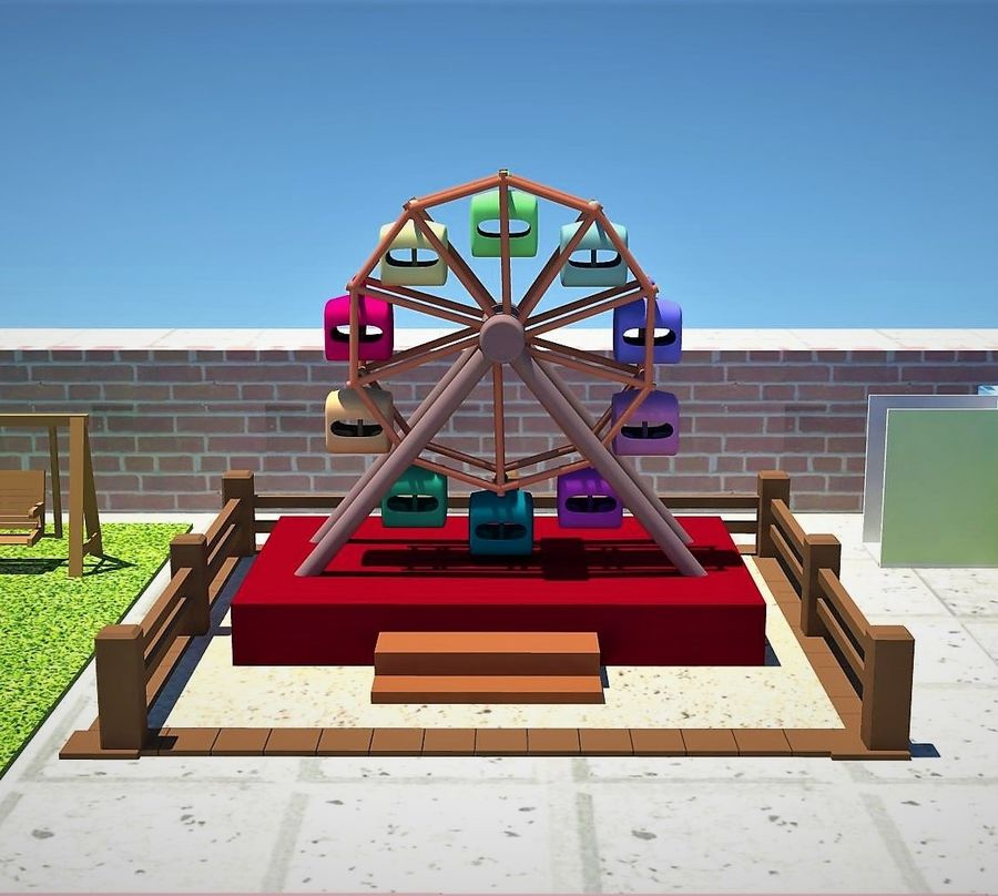 Giant wheel swing royalty-free 3d model - Preview no. 1