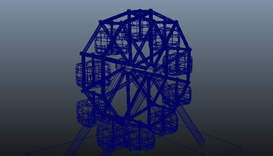 Giant wheel swing royalty-free 3d model - Preview no. 5