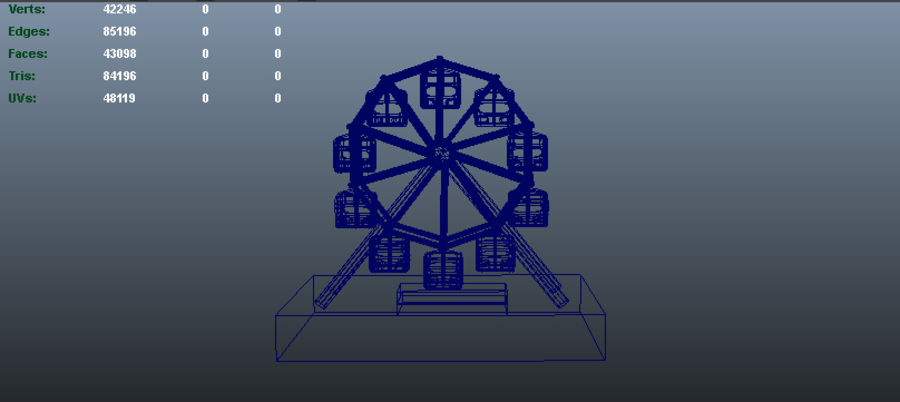 Giant wheel swing royalty-free 3d model - Preview no. 3