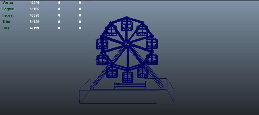 Balanceo de rueda gigante royalty-free modelo 3d - Preview no. 3