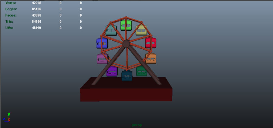 Giant wheel swing royalty-free 3d model - Preview no. 2