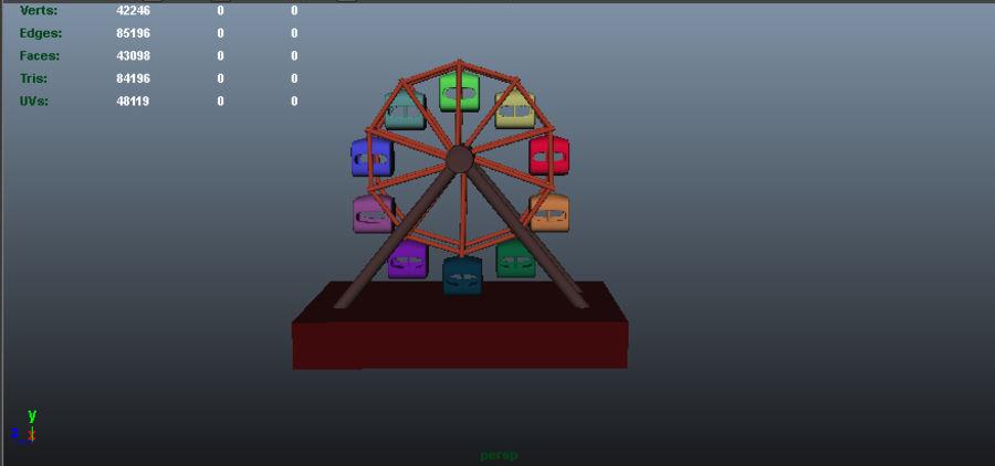 Balanceo de rueda gigante royalty-free modelo 3d - Preview no. 2