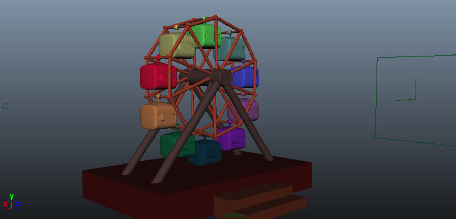 Giant wheel swing royalty-free 3d model - Preview no. 4