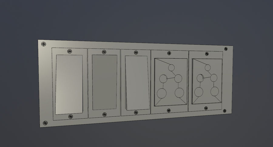Switch Board royalty-free 3d model - Preview no. 7