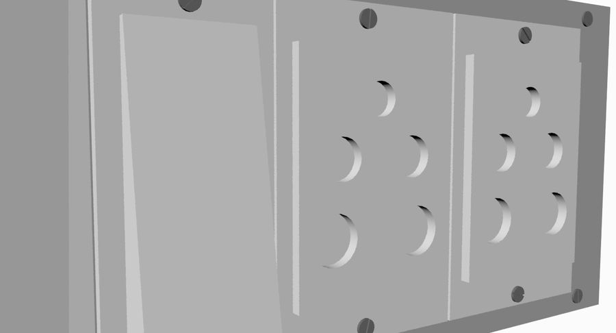 Switch Board royalty-free 3d model - Preview no. 4
