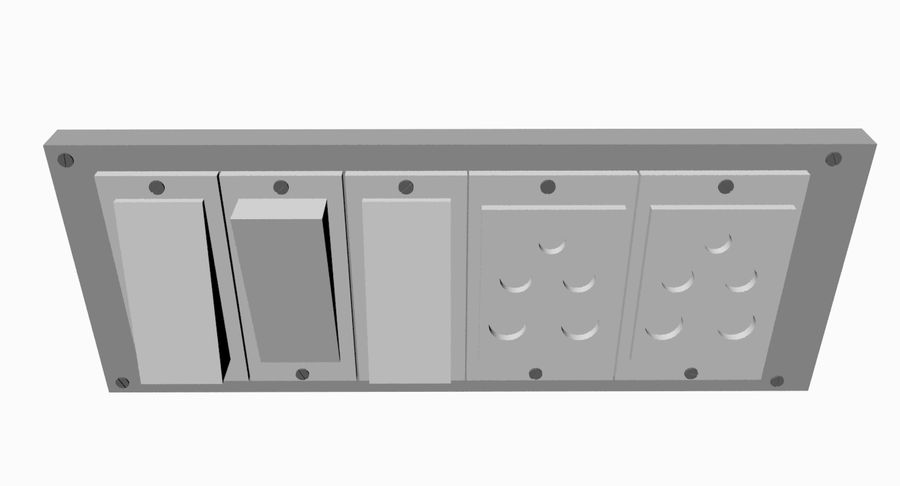 Switch Board royalty-free 3d model - Preview no. 6