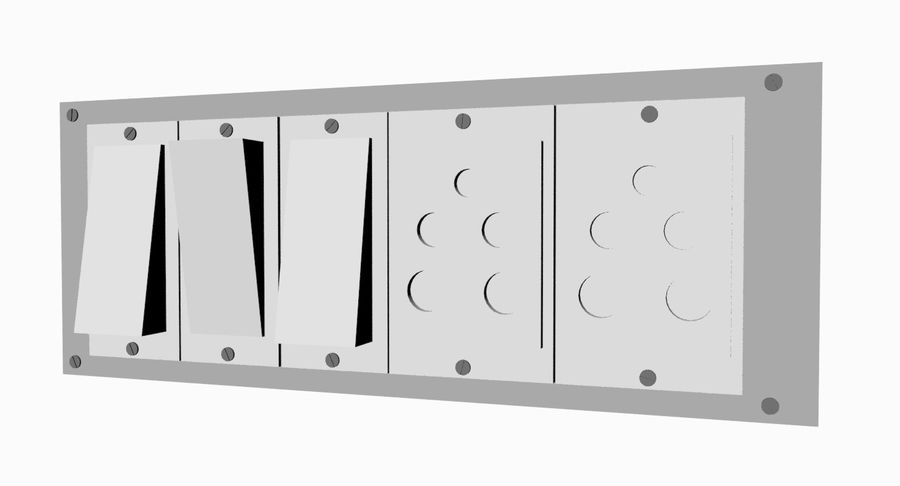 Switch Board royalty-free 3d model - Preview no. 2