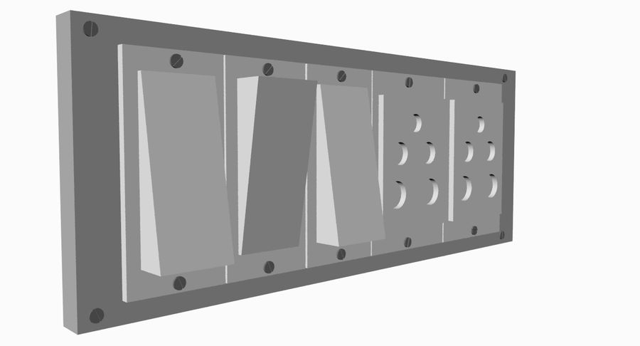 Switch Board royalty-free 3d model - Preview no. 3