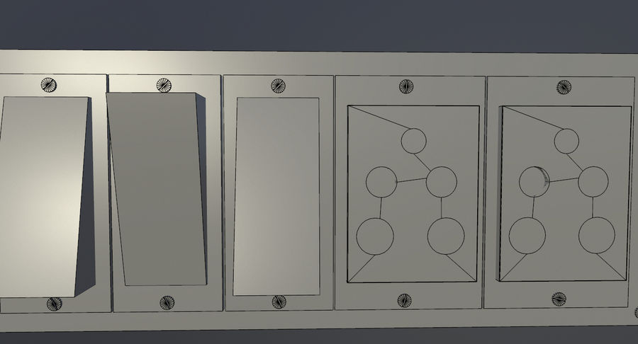 Switch Board royalty-free 3d model - Preview no. 8