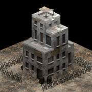 Post-apocalyptic Building Safe Zone 3d model