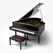 グランドピアノ3D 3d model