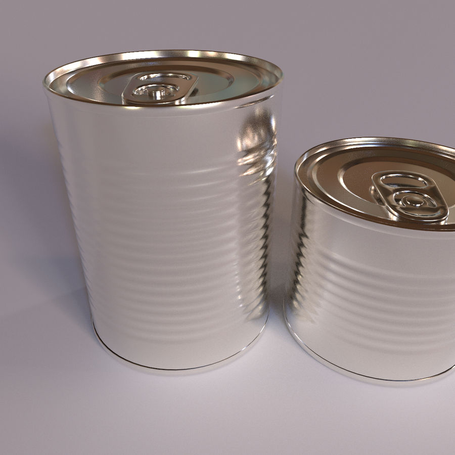 Tins Cans Pack royalty-free 3d model - Preview no. 2
