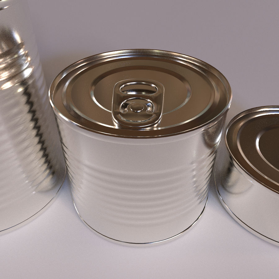 Tins Cans Pack royalty-free 3d model - Preview no. 3