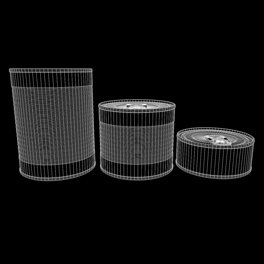 Tins Cans Pack royalty-free 3d model - Preview no. 10