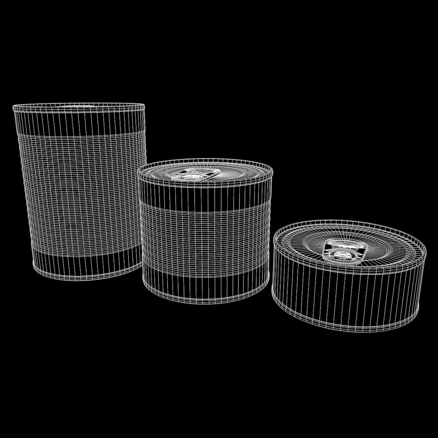 Tins Cans Pack royalty-free 3d model - Preview no. 13