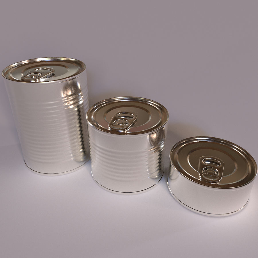 Tins Cans Pack royalty-free 3d model - Preview no. 1