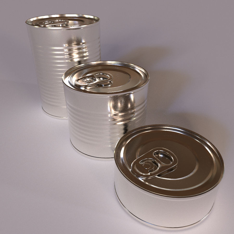 Tins Cans Pack royalty-free 3d model - Preview no. 7