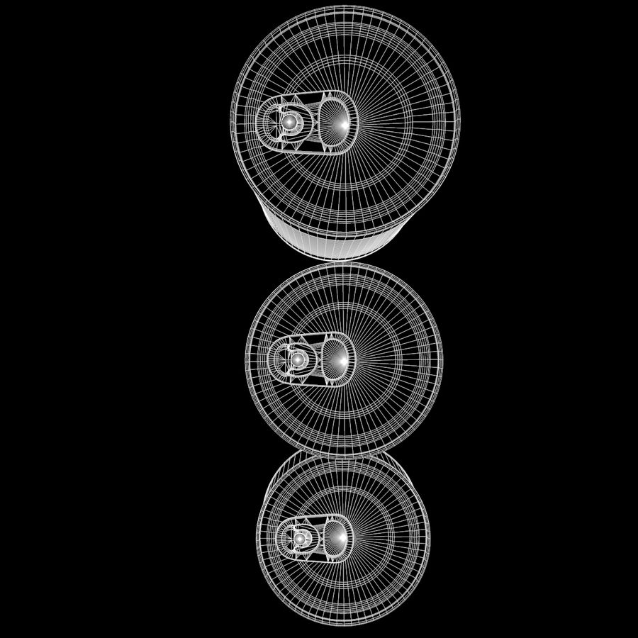 Tins Cans Pack royalty-free 3d model - Preview no. 12
