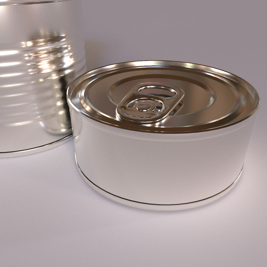 Tins Cans Pack royalty-free 3d model - Preview no. 4