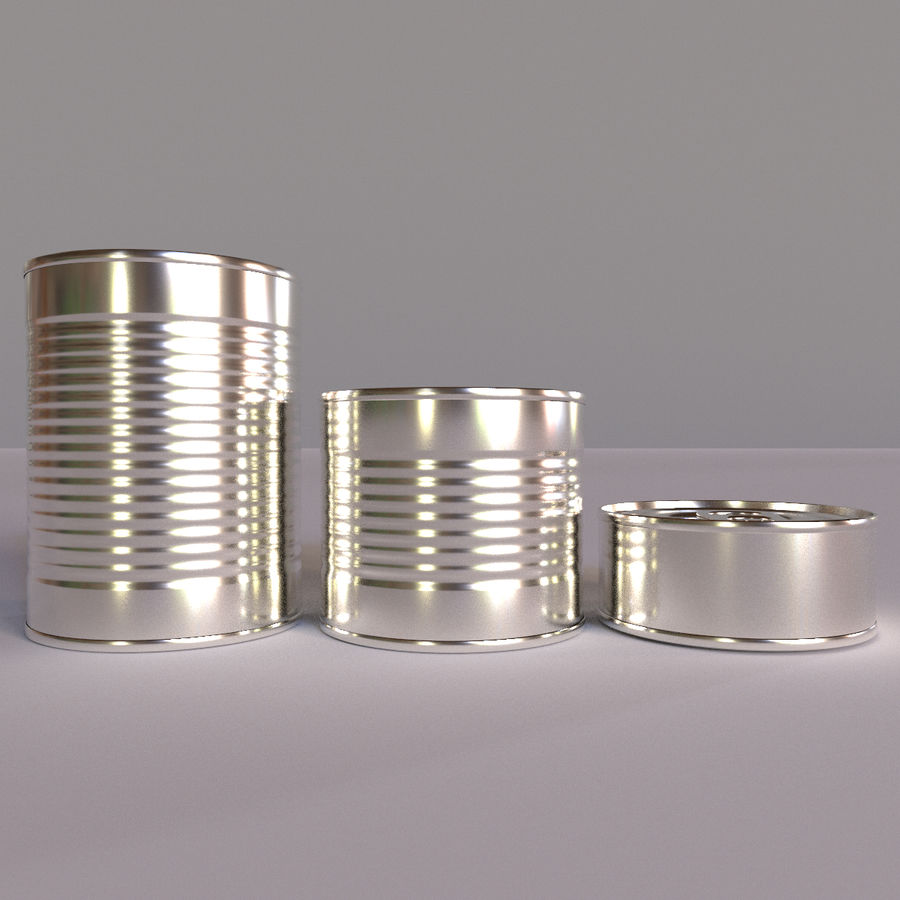 Tins Cans Pack royalty-free 3d model - Preview no. 6