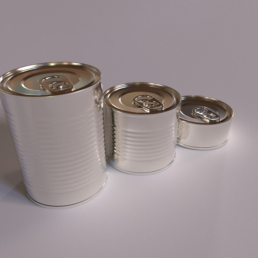 Tins Cans Pack royalty-free 3d model - Preview no. 5