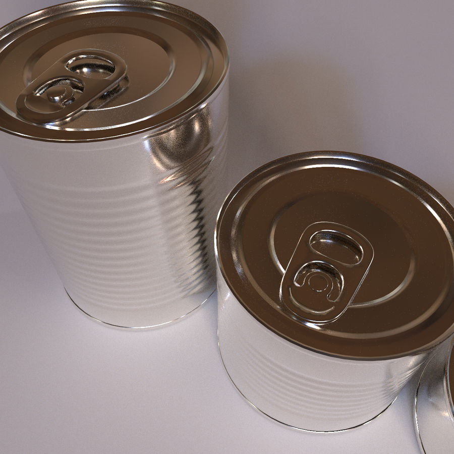 Tins Cans Pack royalty-free 3d model - Preview no. 9