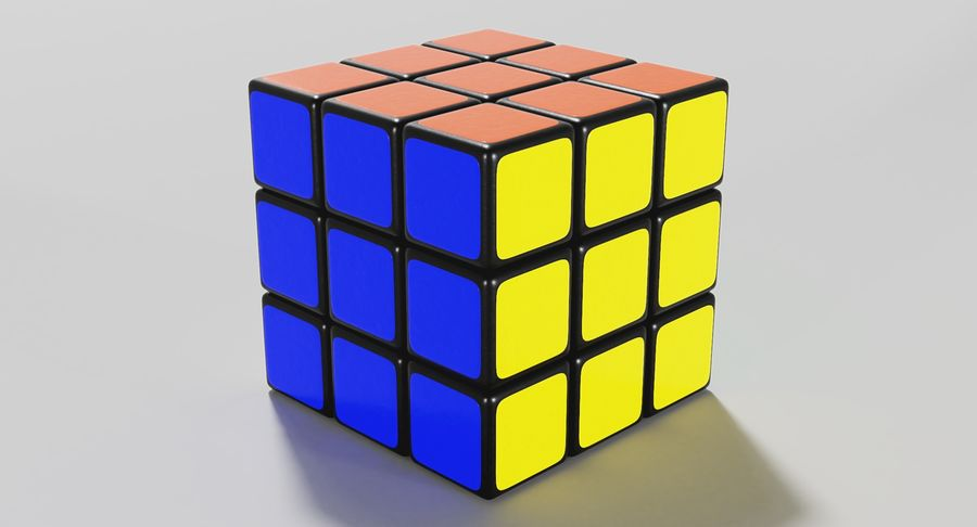 Rubiks Cube royalty-free 3d model - Preview no. 13