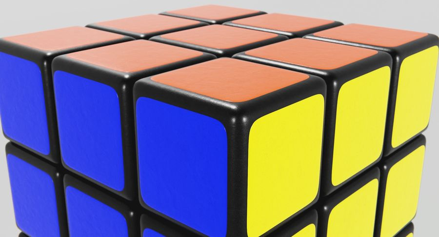 Rubiks Cube royalty-free 3d model - Preview no. 6