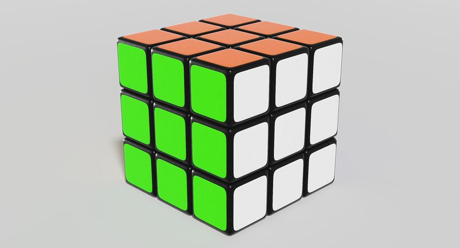 Rubiks Cube royalty-free 3d model - Preview no. 2