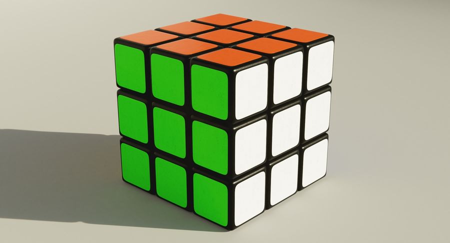 Rubiks Cube royalty-free 3d model - Preview no. 10
